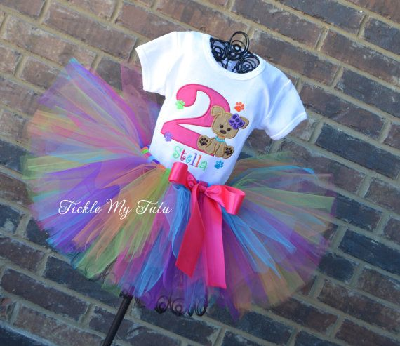 Puppy Pawty Birthday Tutu Outfit Puppy Themed by TickleMyTutu, $54.95