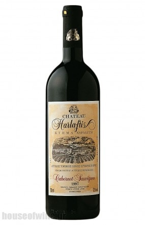 Chateau Harlaftis Cabernet Sauvignon 100%, 12 months in French oak in 225 lt. www.harlaftis.gr