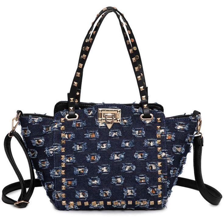 Handbags Rivet Lock Messenger Shoulder