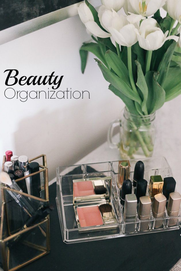 When it comes to beauty supplies, we believe the storage should be pretty and inspiring!! Here's a few tips to get you started.