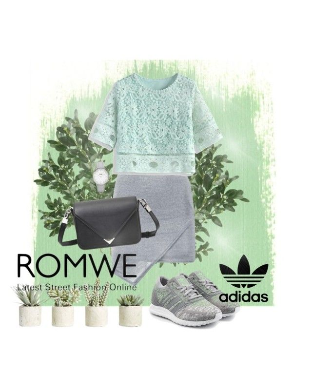"""Mint and Gray"" by shasasoso on Polyvore featuring adidas Originals, Alexander Wang, Chicwish, Topshop, Allstate Floral and adidas"