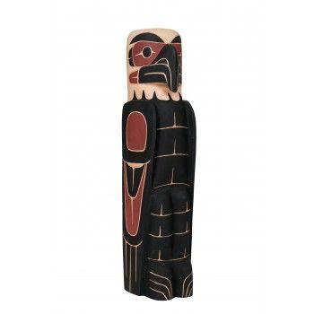 SOLD Eagle totem pole by David Louis Jr. (Musqueam, Coast Salish).
