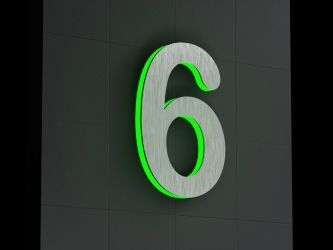 Lighted house numbers so the address is easy to see at night  Led-Beleuchtete Hausnummer