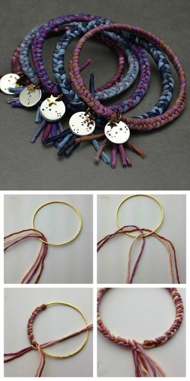 DIY Silk Wrapped Bangle Tutorial from Nina Designs.You could...