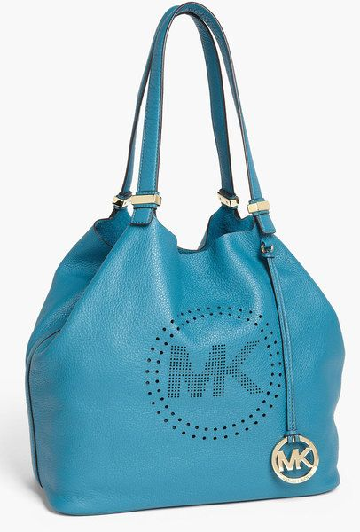 Michael by Michael Kors Perforated Mk Large Leather Tote