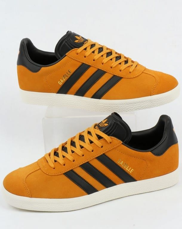 super popular c2f12 28a32 Adidas Gazelle Trainers Jamaica YellowBlack
