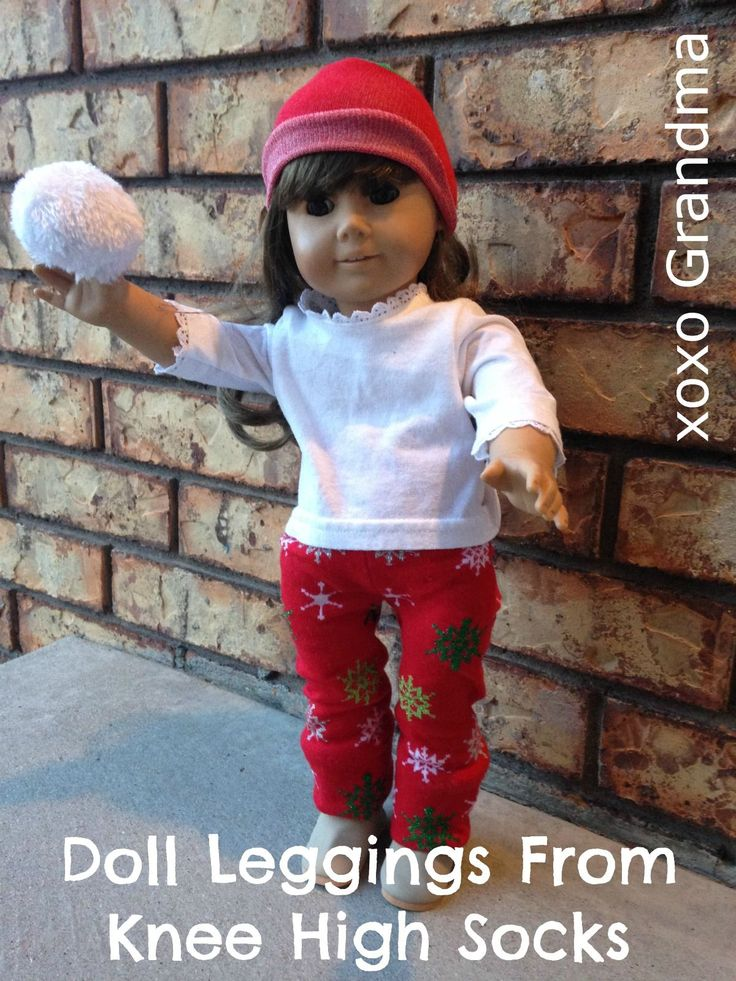 xoxo Grandma: Dollar Store Purchase - Doll Leggings From Knee High Socks -I've seen a lot of these made, but these are the best instructions I've found