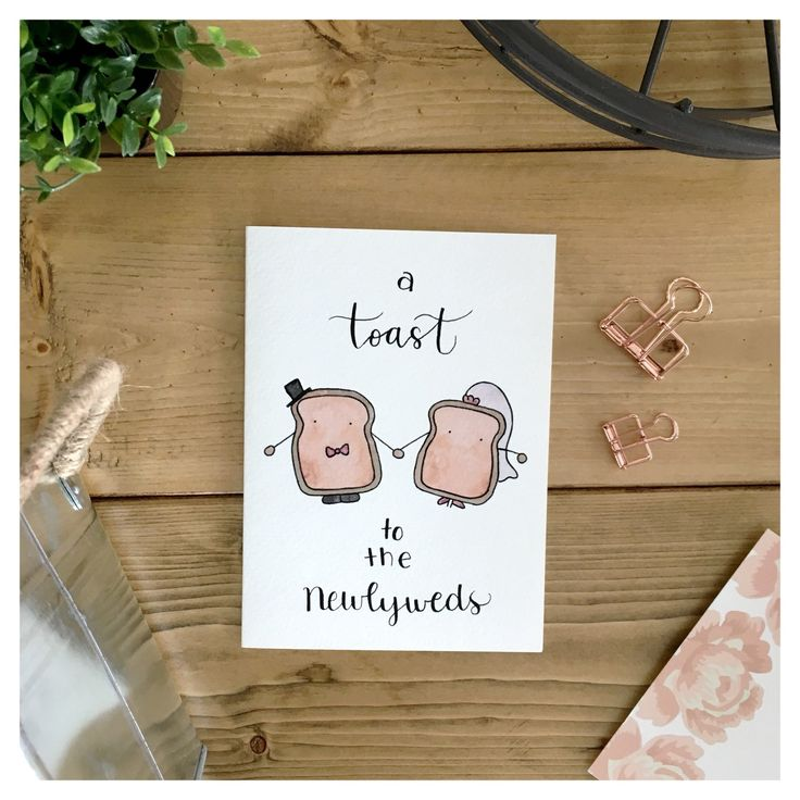 Funny Marriage Quotes For Newlyweds: Newlywed Toast Couple Card // Wedding Card, Funny Card