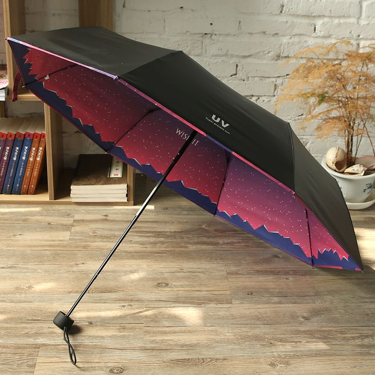 Creative High Quality Folding Men Women Sunscreen Anti UV Sun Parasol
