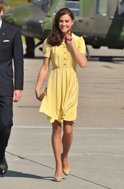 Kate Middleton arrives in Calgary