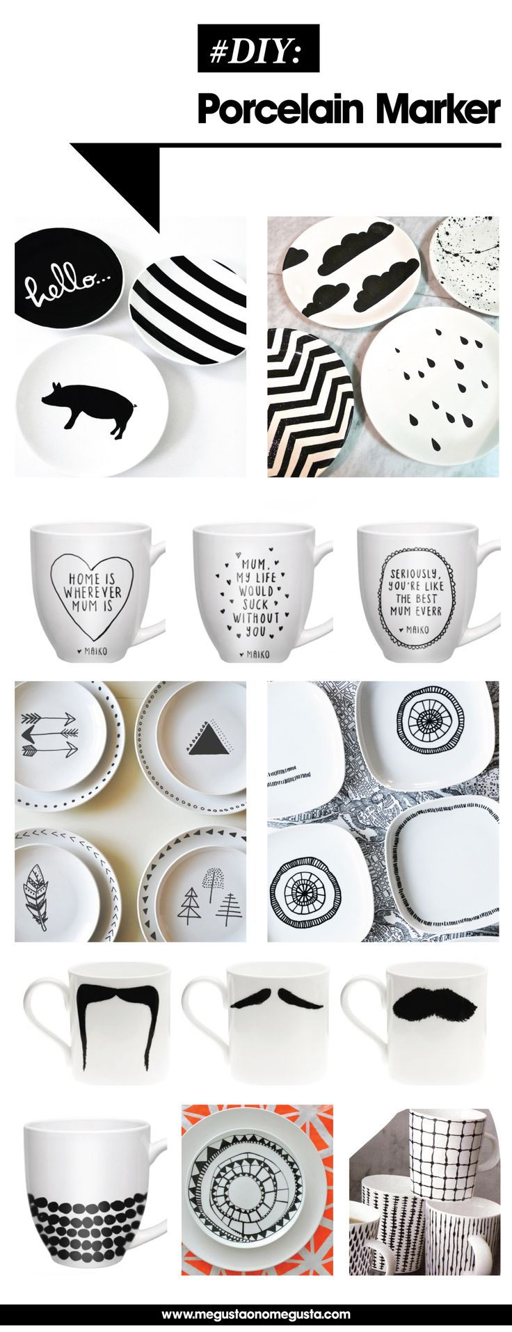 DIY porcelain marker projects