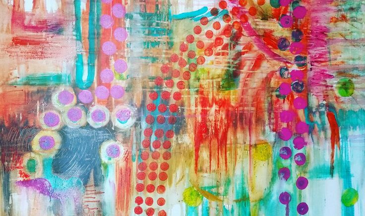 Acrylic on canvas abstract by Kristan Billing