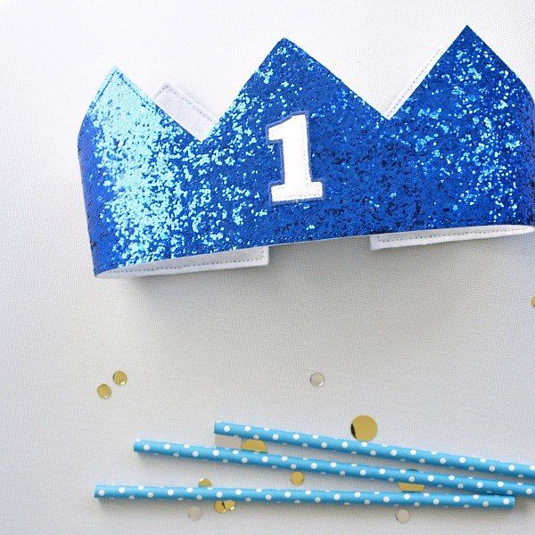 boys first birthday crown