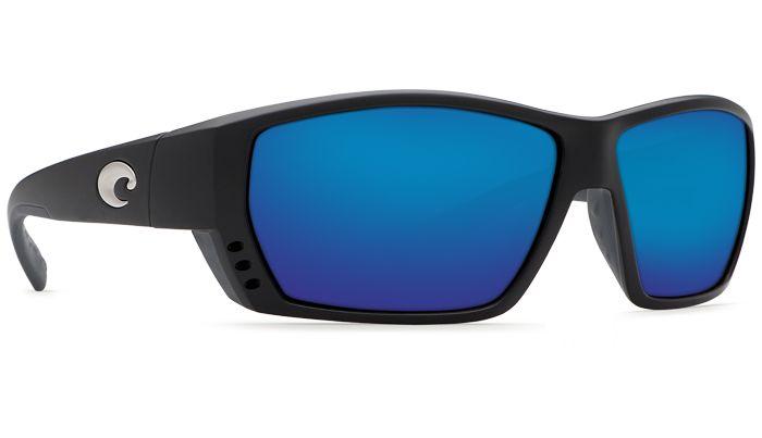 Costa Tuna Alley Black Blue Mirror 580 Glass Lens Polarized Sunglasses TA11OBMGLP