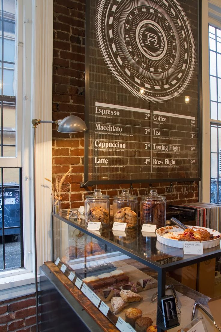 70percentpure: GASTOWN, bakery & cafe. Love the brick wall, the big glass jars for cookies & bagels, and that sign is cool too!