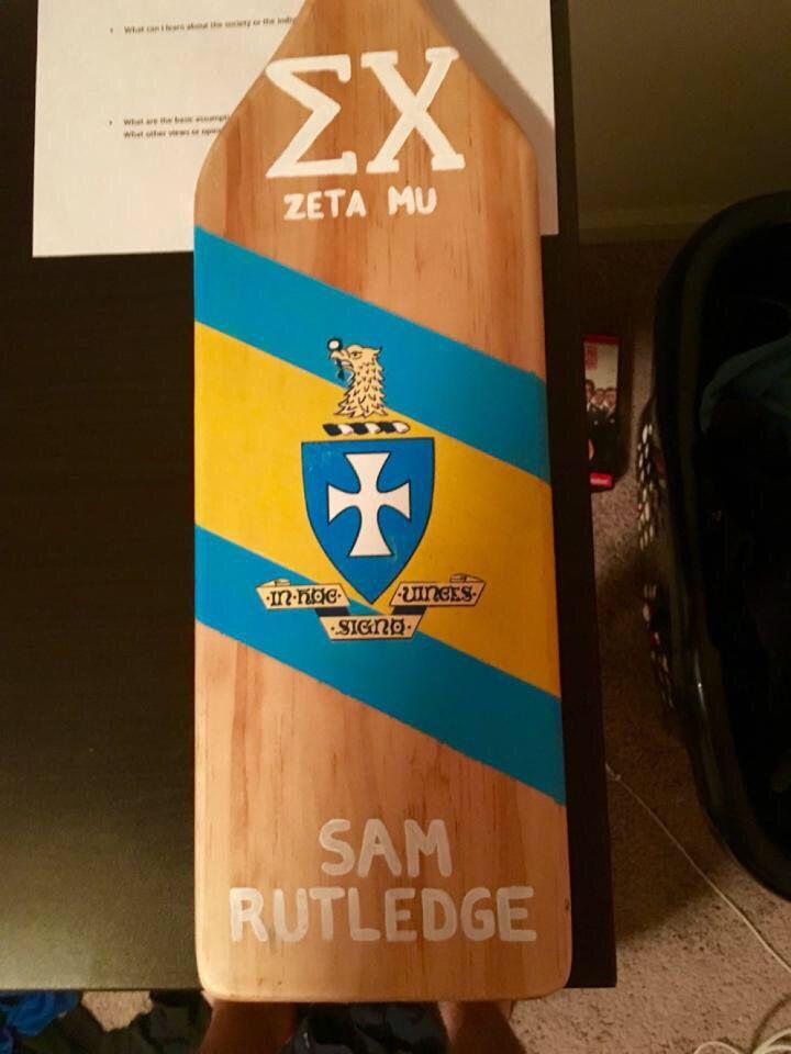 Sigma Chi paddle #ΣΧ