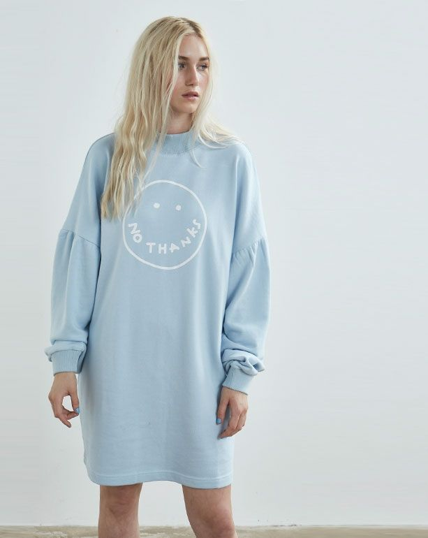 Lazy Oaf Blue No Thanks Sweatshirt