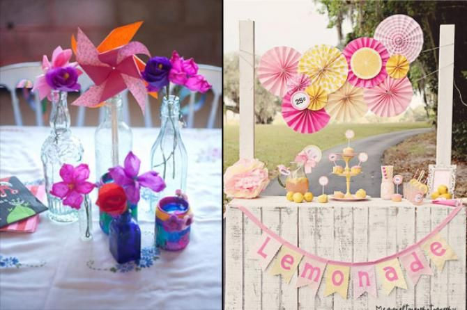 Paper pin wheels and fans are versatile and an exciting option to infuse some life into your event.