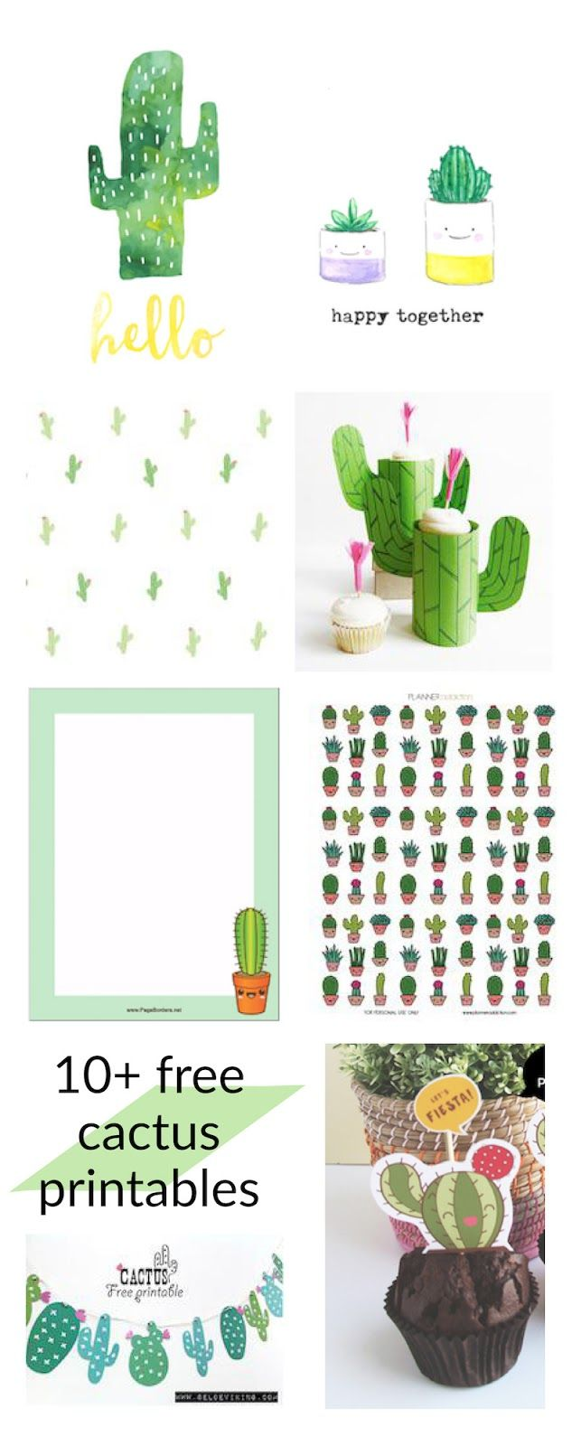 FREE printable #cactus printables - round-up