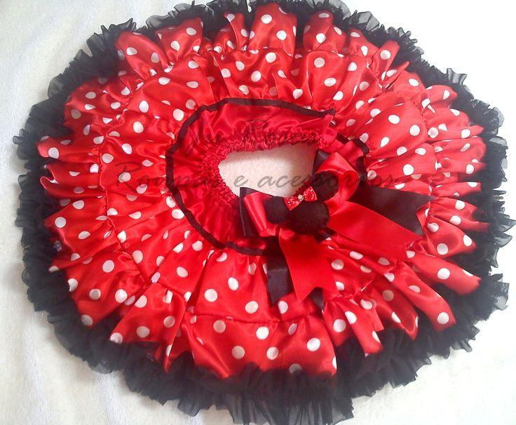 Lançamento 2013 Festa Minnie Vermelha tutu frufru | Ju Rosas Roupas e acessórios