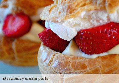 strawberry cream puff | Cream puff | Pinterest