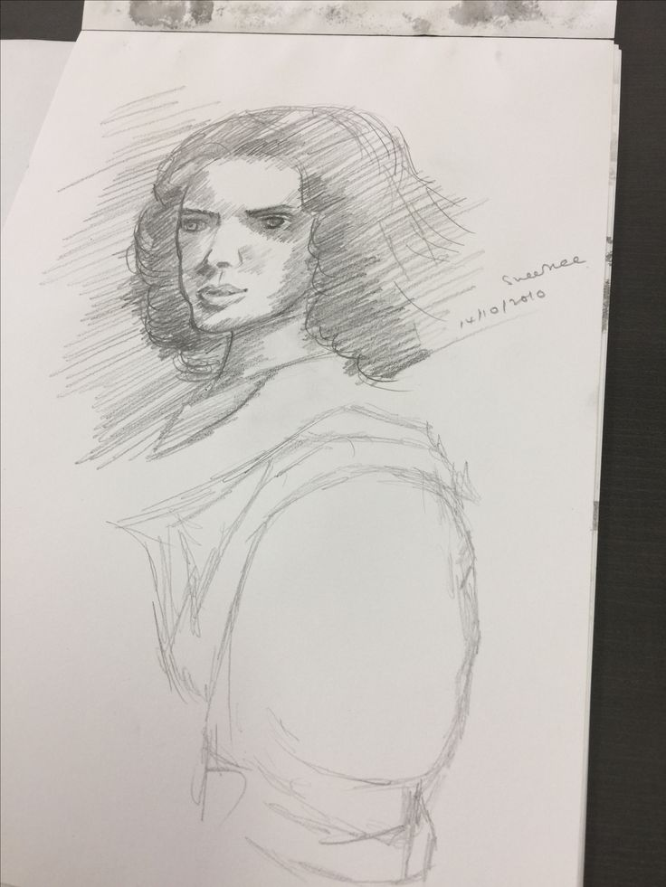 Learning to draw Sheila using pencil