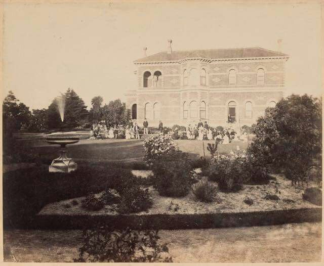 Melbourne's Ripponlea in 1875.