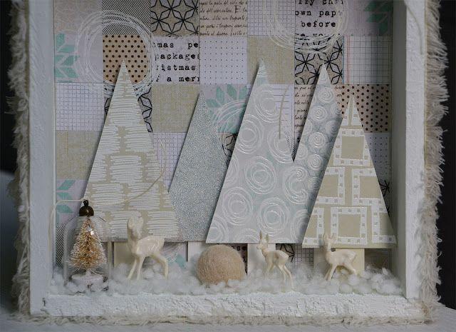 PaperArtsy: 2017 #17 Winter Wonderland with EEG by Anneke de Clerck