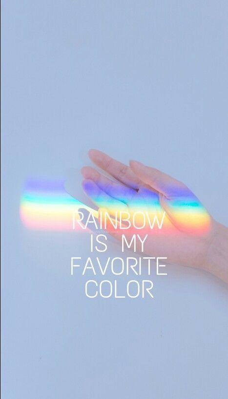 El arco iris es mi color favorito.