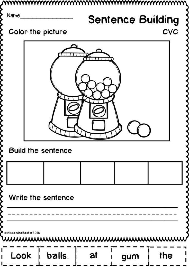 sentence building worksheets set 1 my teaching resources sentence building sentence. Black Bedroom Furniture Sets. Home Design Ideas