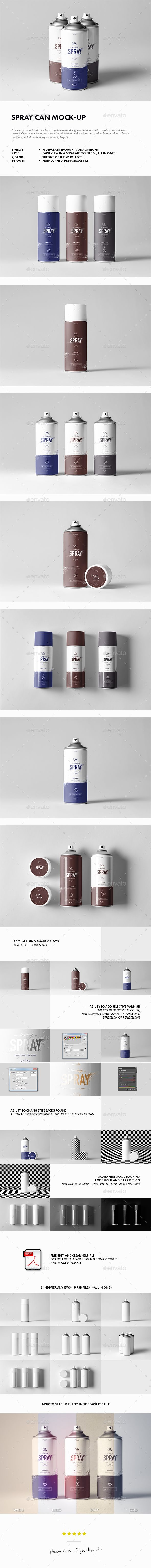 Spray Can Mock-up. Download here: https://graphicriver.net/item/spray-can-mockup/17626758?ref=ksioks