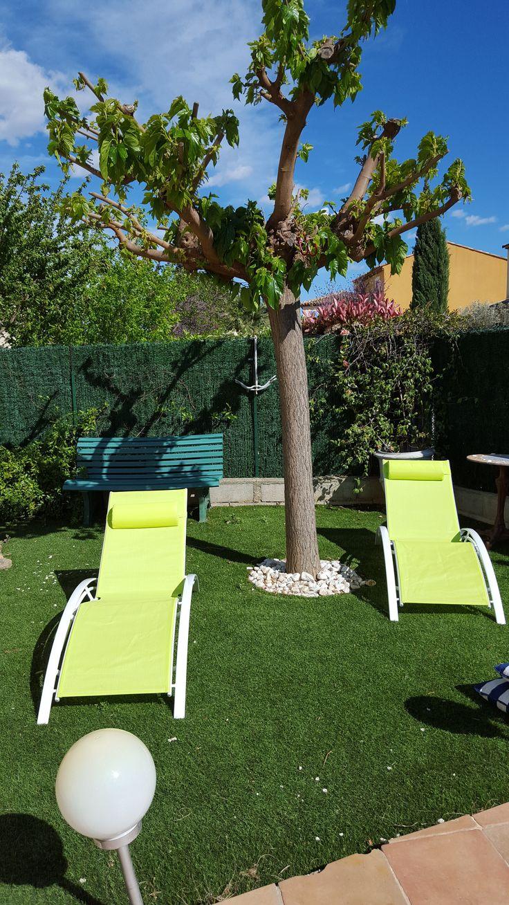 Les 25 meilleures id es de la cat gorie transat piscine for Mobilier jardin transat