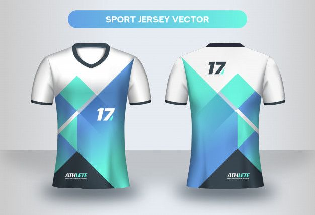 Download Football Jersey Design Template Soccer Club Uniform T Shirt Front And Back View Jersey Design Sport Shirt Design Sports Jersey Design