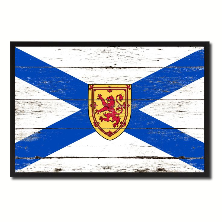 Nova Scotia Province City Canada Country Flag Vintage Canvas Print with Black Picture Frame Home Decor Wall Art Collectible Decoration Artwork Gifts