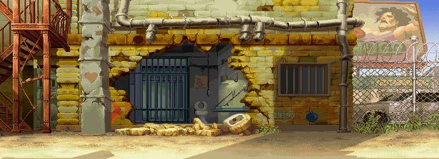 Street Fighter Alpha 3, Cody stage.