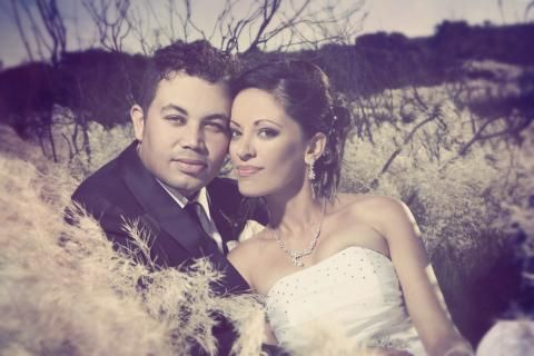 Cindy Fourie married Lyall Butler at African Skies in March. Picture: ASTRID CORDIER PHOTOGRAPHY.