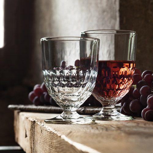 Verre à pied en verre pressé alvéolé (par 6) Artois La Rochère