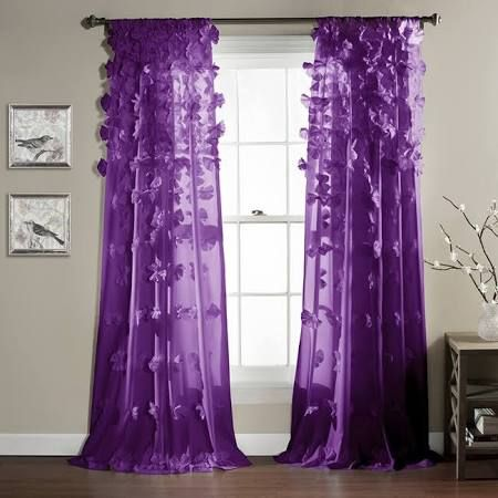 purple curtains for teens - Google Search