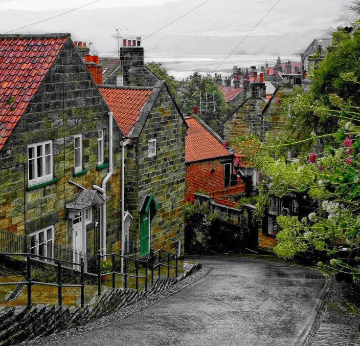 The rich red pantile roofs of Robin Hood's Bay