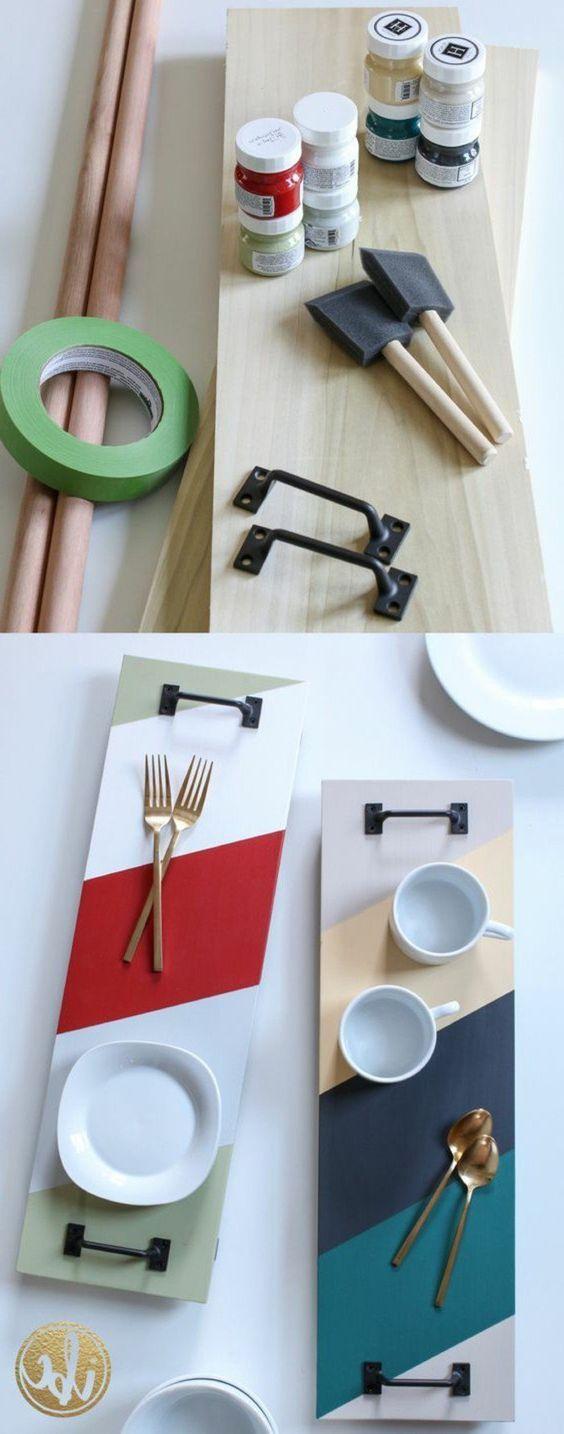 idée très sympa pour un plateau, cadeau a faire soi meme, idée très esthétique qui va embellir votre table