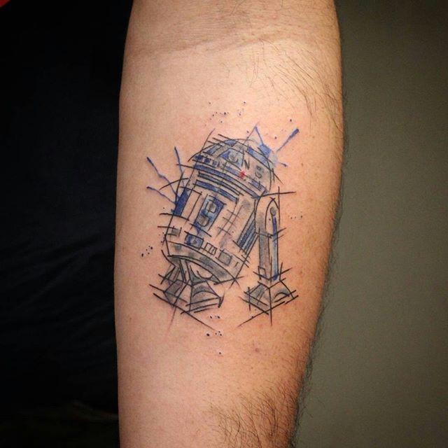 """Tatuagem feita por <a href=""""http://instagram.com/fe_mello_io"""">@fe_mello_io</a> -  - Star Wars"""