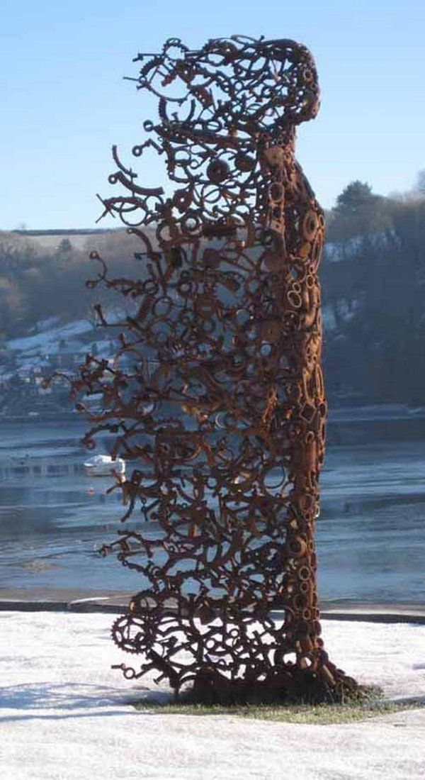 """You blew me away"" by Penny Hardy has to be my new favourite when it comes to recycled art.  Like it? on The Owner-Builder Network  http://theownerbuildernetwork.co/wp-content/blogs.dir/1/files/urban-art/penny-hardy-you-blew-me-away-02.jpg"