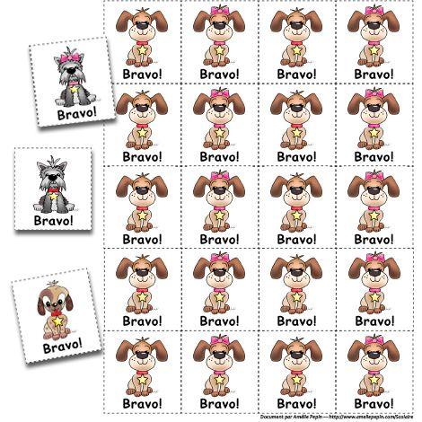 Fichiers PDF téléchargeables Version en couleurs et en noir et blanc 3 pages  Pour encourager le bon travail de vos jeunes, vous pouvez coller ou brocher ces illustrations à leur document.