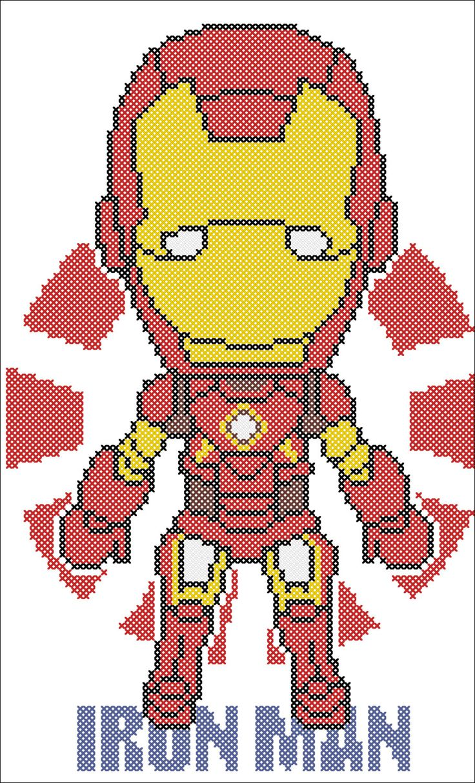 BOGO FREE IRON Man Marvel Comics Civil War door Rainbowstitchcross