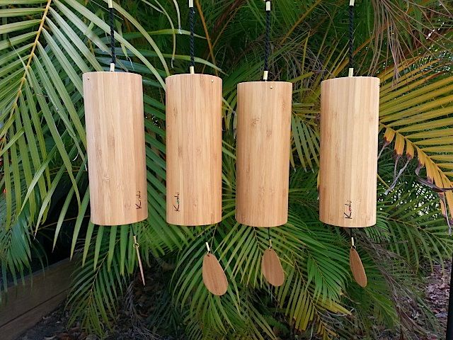 The delightful Koshi wind chimes available Online from The Alchemy of Sound website where you can listen to sound samples and watch Youtube videos of all tunings - http://www.thealchemyofsound.com.au/koshi-wind-chimes/