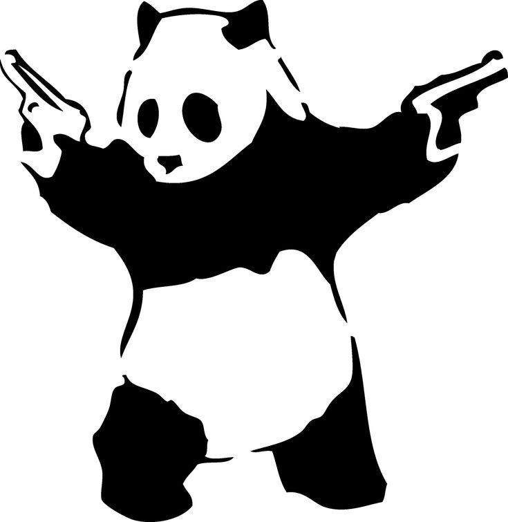 Panda Guns Stencil Eats Shoots And Leaves Eats Shoots