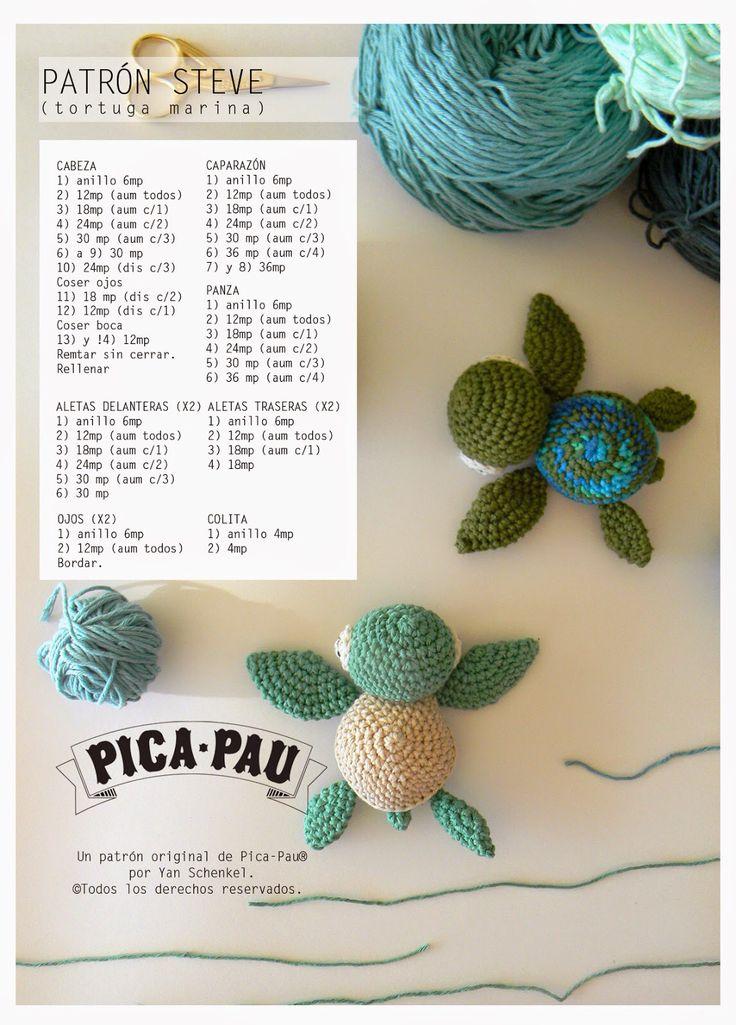 Patrón tortuga en crochet - by pica-pau