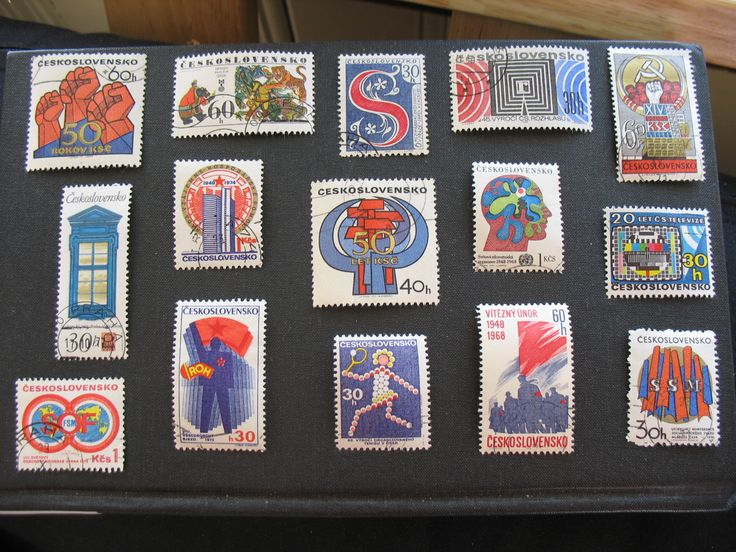 Czech stamps from the 60s/70s, an example of design from the period