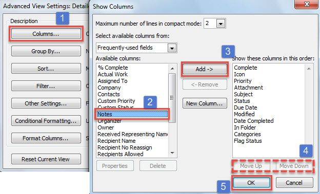 How to Include the Task Bodies when Printing a List of Tasks in - task list format