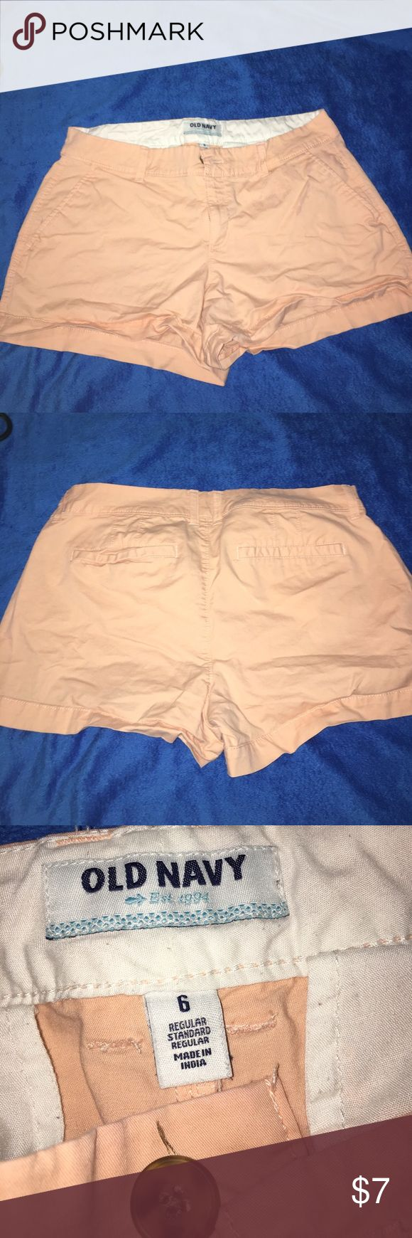 Peach shorts Peach colored shorts from Old Navy. Size 6. Never worn; smoke-free home. 10% off 2+ bundle. Old Navy Shorts